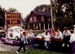 Our float for one of the Homecoming parades.  Which year was Herbie?