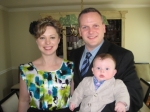 Pictured are me (duh), my wife Amy and our son Andrew.  This is from April 2009.  -- Steve Auten
