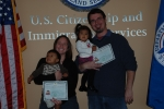My wife Jana, son Eduardo, daughter Maria and I at the kids' citizenship ceremony in December 2008 (Matt Parks)