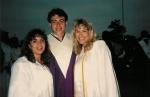Graduation. Christi Mundy, John Mega, and Kristen Schimmel.