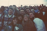 DGN Football Playoffs, November 1989. Bloomington, IL. Christi Scroggins, Rob Rhee, Kristen Schimmel, Steve Davis, Jon F