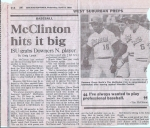 McClinton Suntimes Article April 13, 1989 (or most of it, my dad ripped this out of the paper because I'm in the pictur