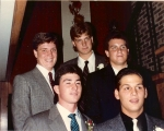 Homecoming 1988: Rich Moore, Rob Harsh, Jim Minton ('87), Mike Keating, Nick Fronz (? DGS?)