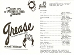 Grease program:  March 11-12, 18-19, 1988