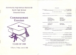 DGN 1989 Commencement Exercises Program - cover page and page 1