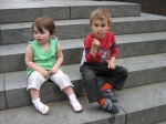 Danny & Tamara, 'looking tough' in New York City, ages 5 and 2(Rocco/Segal).